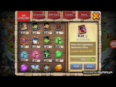 Castle Clash - Winter Events & Opening Items - Prime Hero Card 2 - Fine Crest Set Pack Level 5