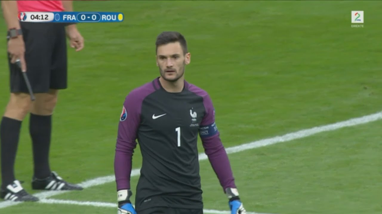 dccd7712376 Hugo Lloris vs Romania - Euro 2016 (10.06.2016) 1080p - YouTube
