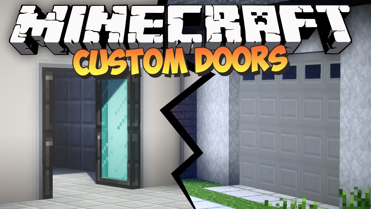Minecraft Custom Doors Mod Malisis Doors Mod Showcase Youtube