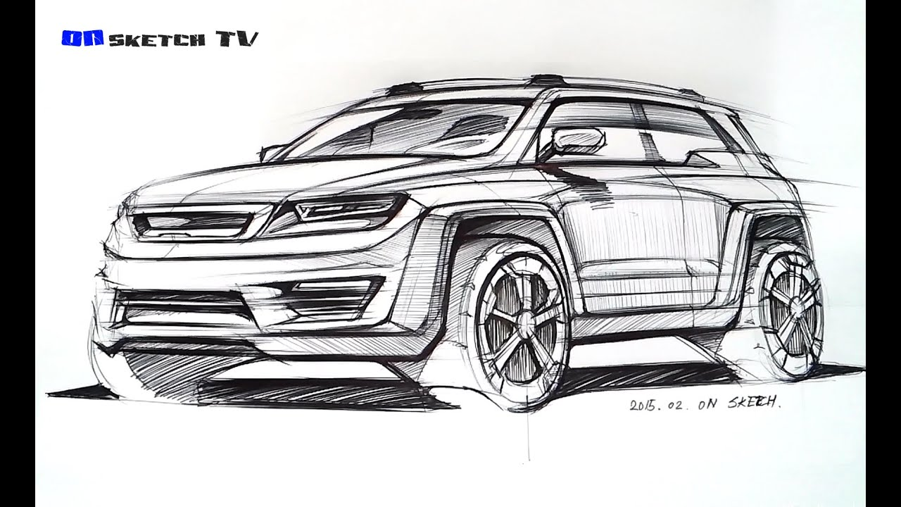 Uc628uc2a4ucf00uce58 TV Sketch - U0026quot; SUV Concept Design Ballpen Sketch U0026quot; - YouTube