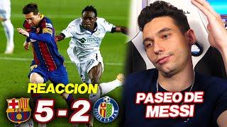 REACCIONANDO al Barcelona vs Getafe 5-2 *PASEO DE MESSI*