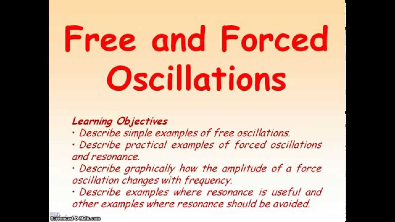 Introduction to shm objectives describe simple examples of free.
