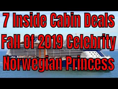 7 Inside Cabin Cruise Ship Deals Fall 2019 Celebrity Norwegian Princess Oceania Holland America