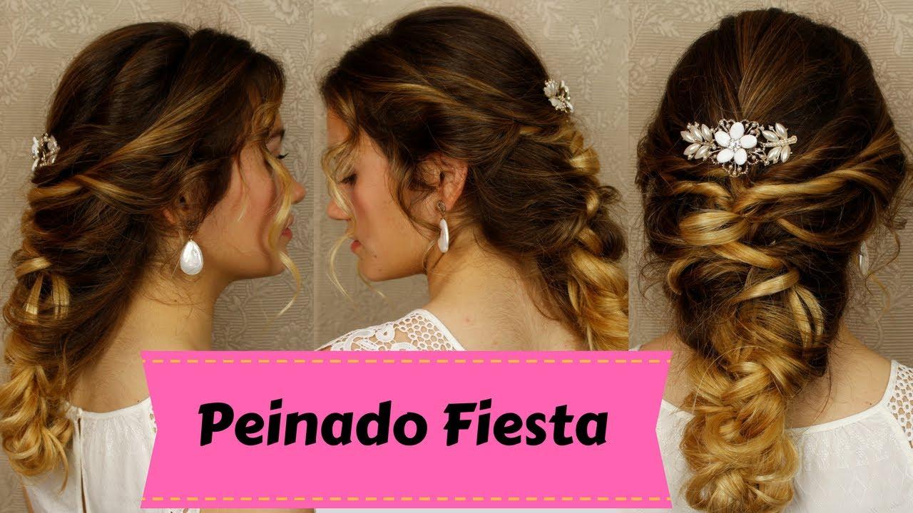 Peinado De Fiesta Facil Y Rapido Recogido De Novia Paso A Paso
