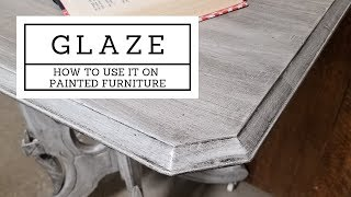 Adding Glaze to Painted Furniture