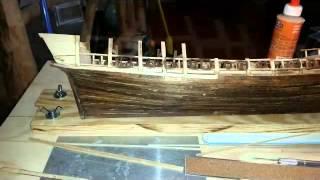 Wooden Model Ship Planking Pt3