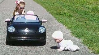 Crawling Baby Doll Crying Baby Driving Car