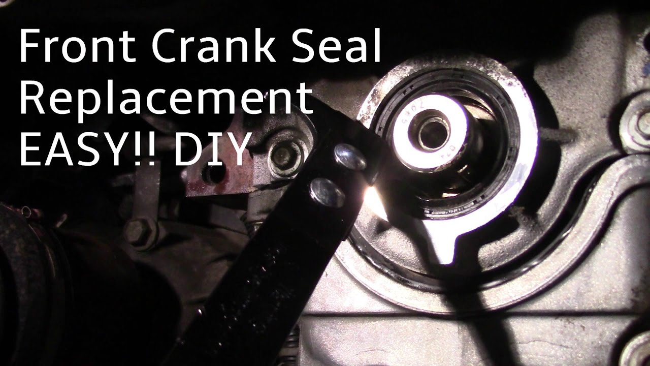 how to replace a front crankshaft oil seal [ 1280 x 720 Pixel ]