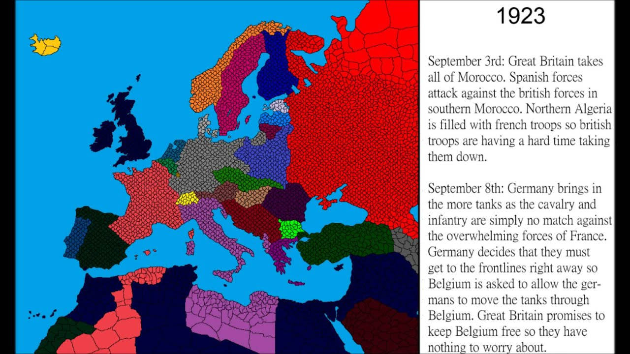 Alternative History World War Part YouTube - Germany map world war 2