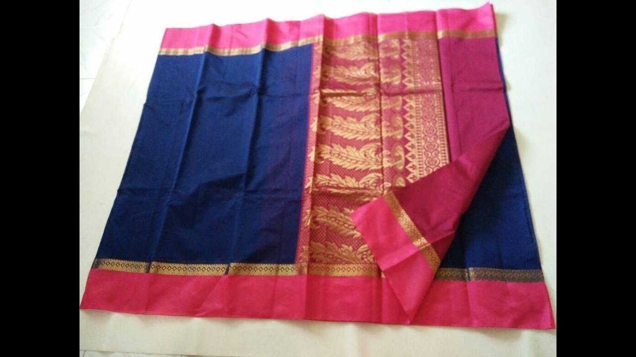 ef111c28e Traditional Chanderi Silk Cotton Saree Design