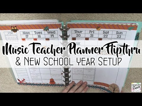 teacher planner flip through and new school year setup