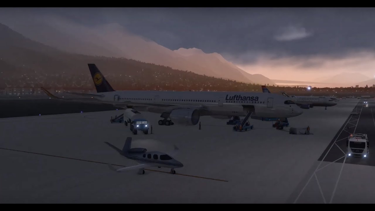 Flight Factor Airbus A350-900 XWB - Innsbruck to Munich (X-Plane 11)  [LOWI/EDDM]