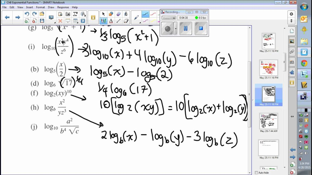 Laws Of Logarithms Practice Youtube