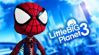 LittleBigPlanet 3 - SPIDER-MAN (PS4) Part 1 - PS4 PRO Gameplay