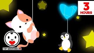 Baby Sensory - Sleepy Time Sweet Dreams Animals -  High Contrast Animation - 3 Hours of Lullabies