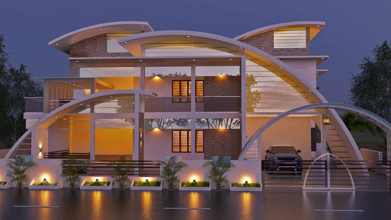 Most beautiful contemporary villa in beautiful homes in for Beautiful villas images