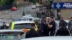 Bradford Great Horton Road | Police Struggle To Make Arrest