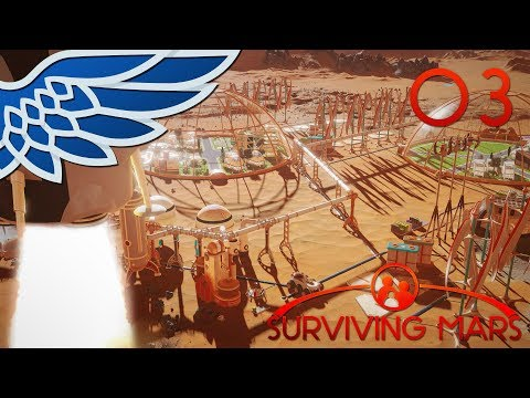 SURVIVING MARS | COLONY RUSH PART 3 - ELON MUSK SPACEX Let's Play Gameplay