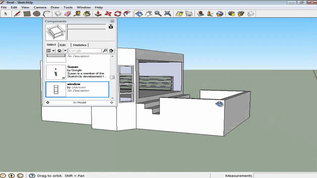 How To Use The Component Options In Google Sketchup Youtube