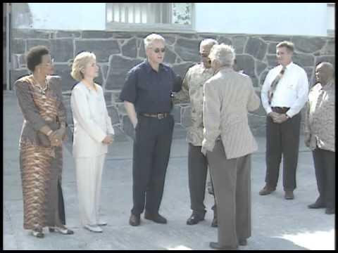 President Clinton Tours Robben Island (1998)