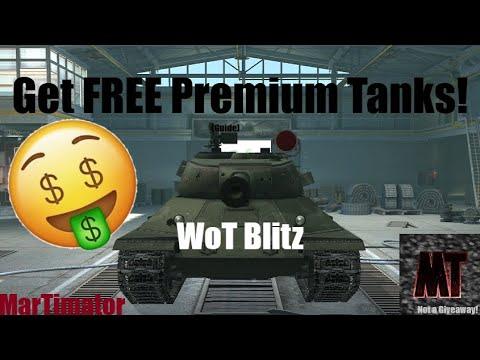 Get FREE Premium Tanks In WoT Blitz