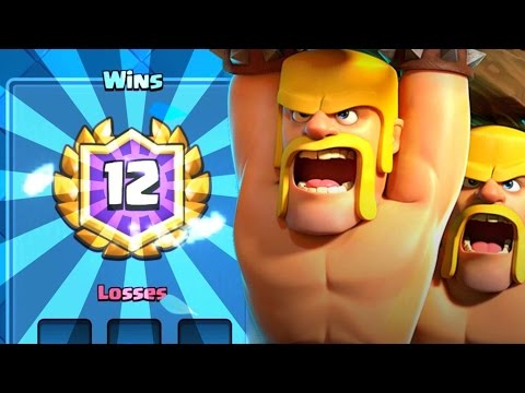 12-0 BATTLE RAM DECK?!? Most UNDERRATED Card in Clash Royale! Miner/Ram Control!