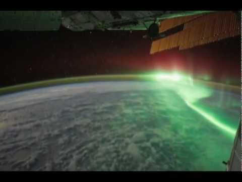 Northern lights - aurora borealis from space (International Space Station) - NASA images