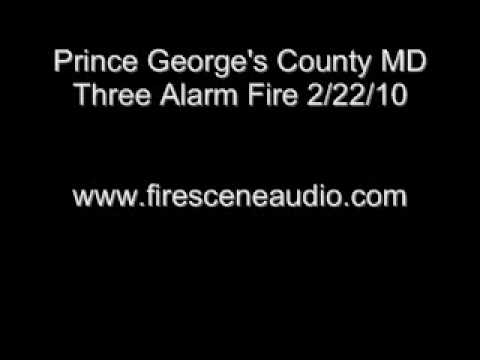 Prince George's County MD Three Alarm Fire 2/22/10