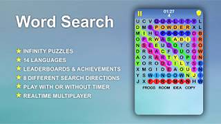 Word Search Puzzle, A Free Infinity Crossword Game