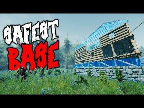 SAFEST BASE BUILD POSSIBLE | The Forest | 1 Life Challenge 2 | HARD SURVIVAL
