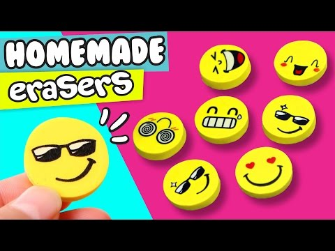DIY ★ HOMEMADE EMOJI ERASER ★ Easy DIY Crafts  Pau