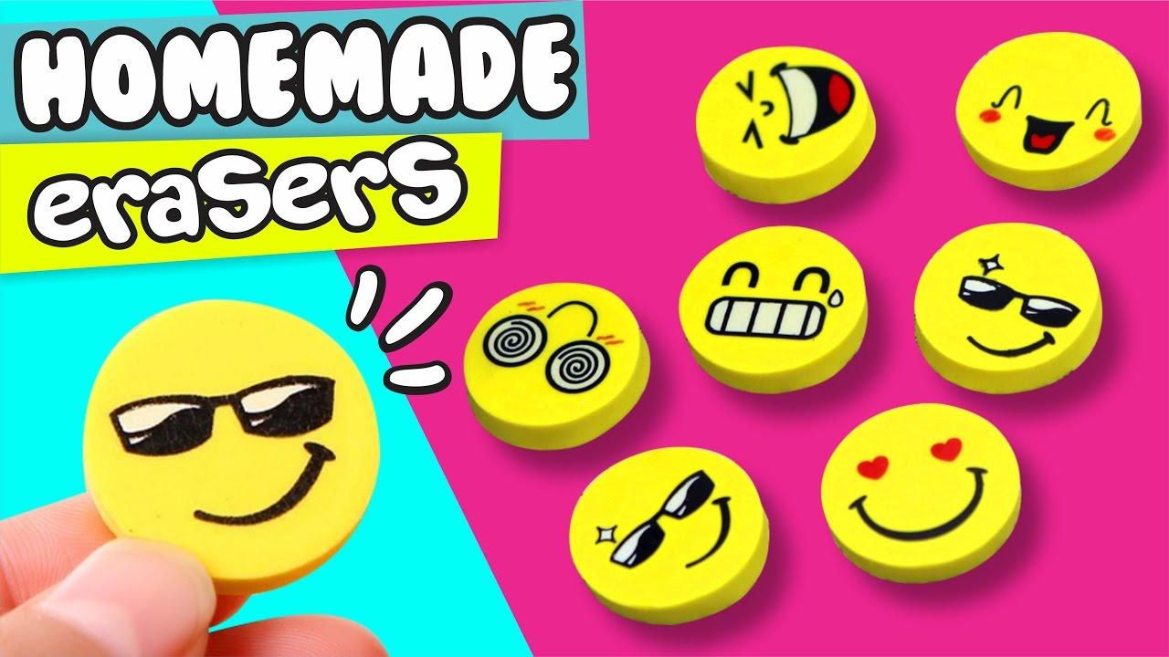 Diy Homemade Emoji Eraser Easy Diy Crafts By Pau Youtube