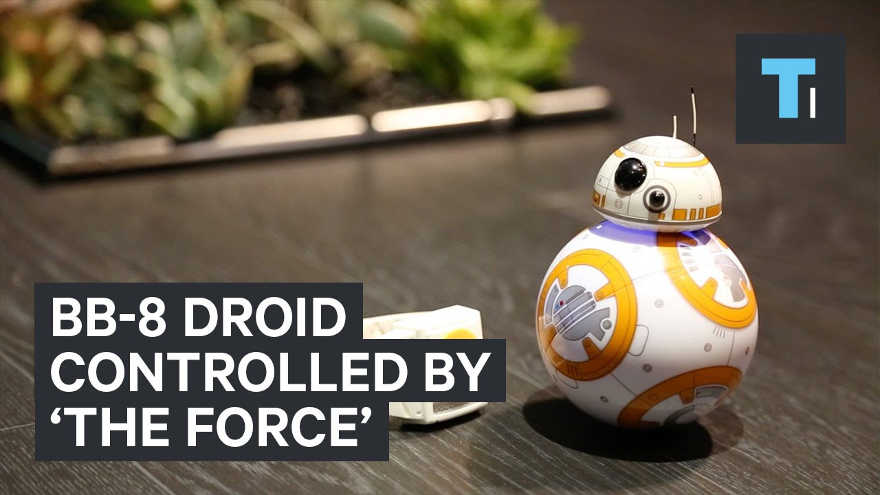 BB-8 droid controlled by 'The Force'