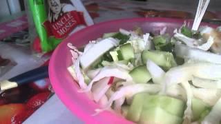 Моё питание.Обед.Салат с тунцом