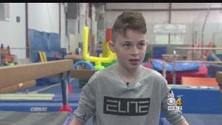 Gymnastics Coach Moves In To Save Athlete From Dangerous Fall
