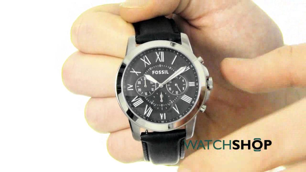 3373b38aa Fossil Men's Grant Chronograph Watch (FS4812) - YouTube