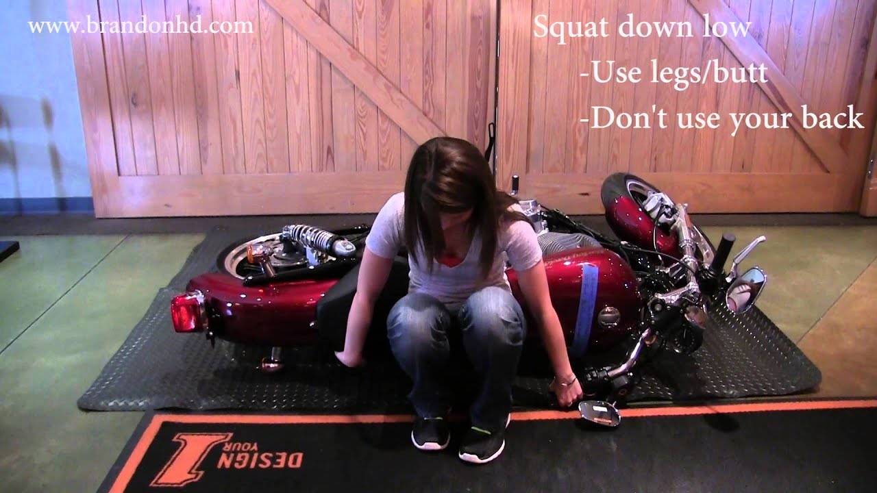 How To Pick Up A Motorcycle By Yourself - How To Pick Up A Harley ...