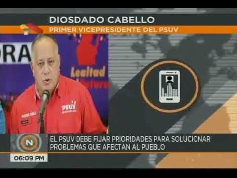 Diosdado Cabello: Funcionarios comparecerán ante Dirección Nacional del PSUV para dar cuentas