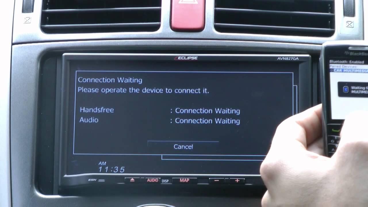 ECLIPSE AVN827GA - Bluetooth Pairing and Transferring your Phonebook -  Fujitsu Ten