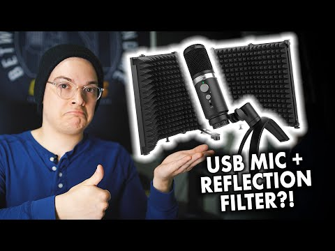 Moman EM1 USB Microphone + RF30 Reflection Filter Review