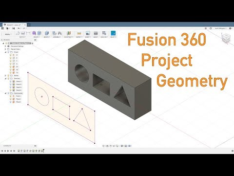 Fusion 360 - Project Geometry Options