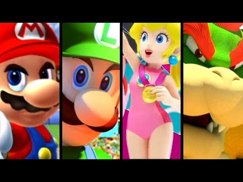Super Mario Sports ALL INTROS 2005-2016 (Wii U, GC)