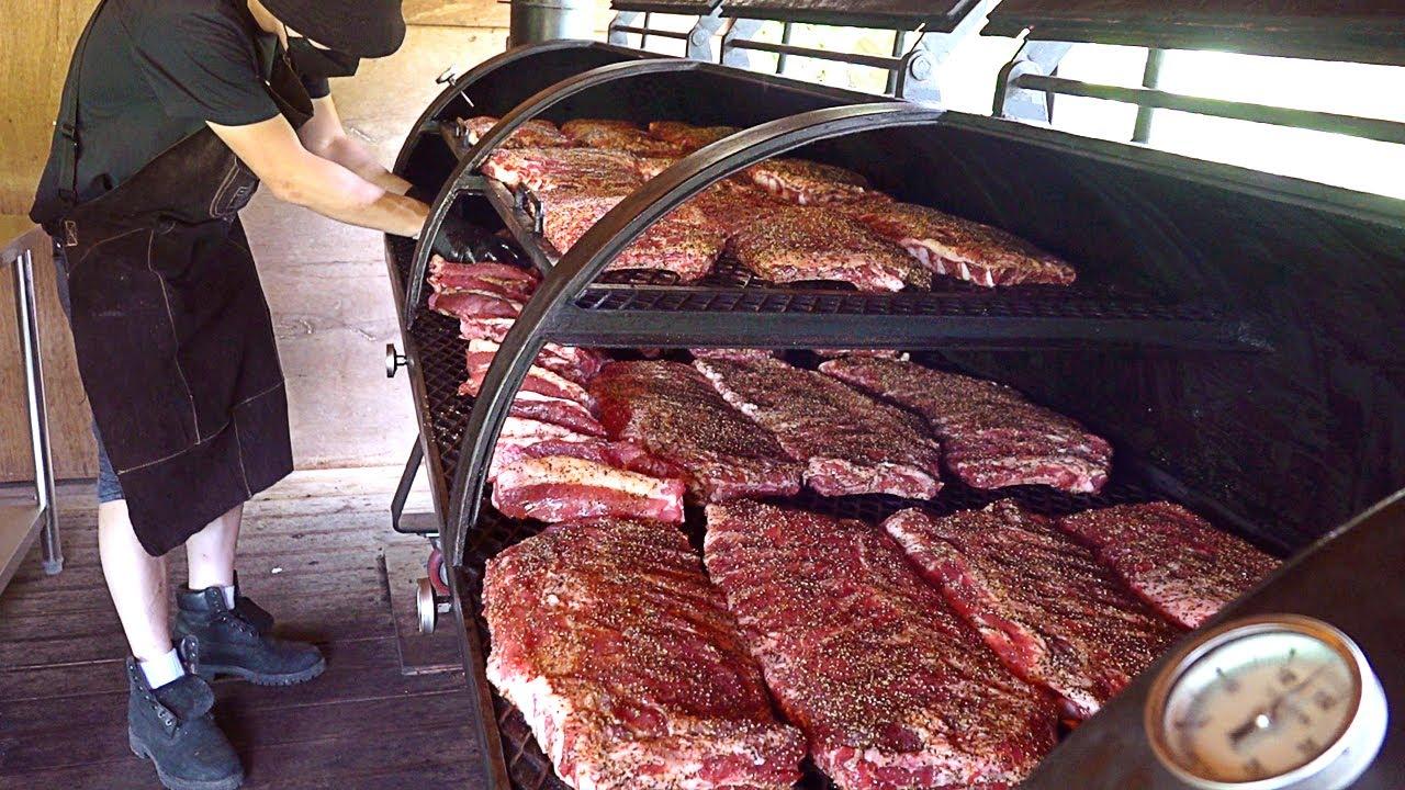 텍사스 바베큐 8 hours Oak Smoked! Texas style Barbecue Smoked Spare Ribs - Korean street food