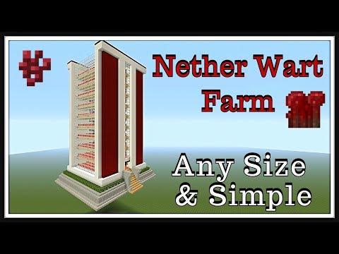 Minecraft Tutorial : Nether Wart Farm 2018