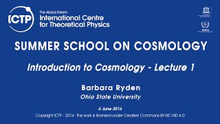 Barbara Ryden: Introduction to Cosmology - Lecture 1