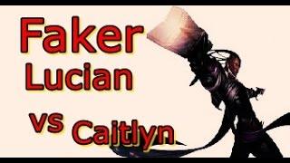 LOL Pro - Faker Lucian (AD) vs Caitlyn - Korea SoloQ (Full game)