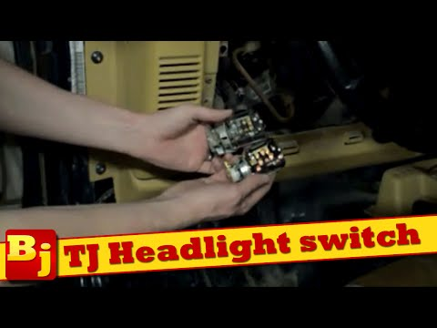 How to replace the headlight switch on a Jeep TJ