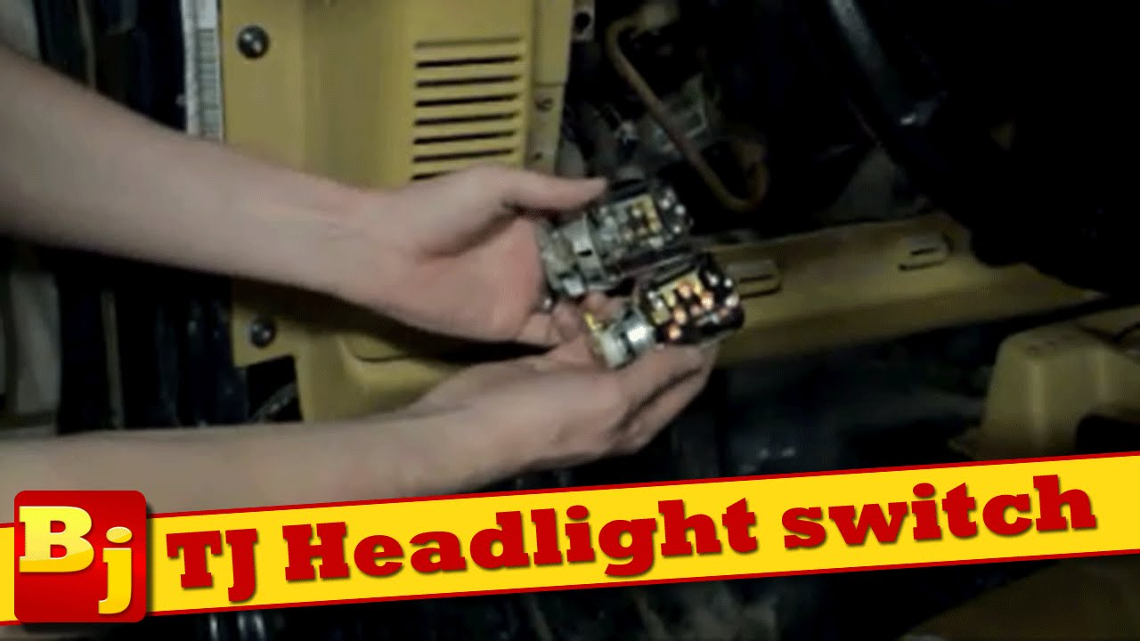 maxresdefault how to replace the headlight switch on a jeep tj youtube Headlight Wiring Harness Replacement at fashall.co
