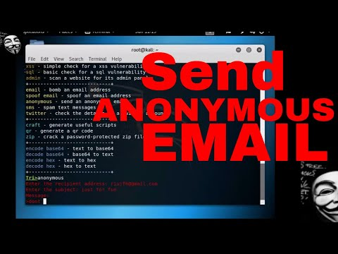 KaliLinux Awesome Tool-  How to Send Anonymous Email to Anyone.
