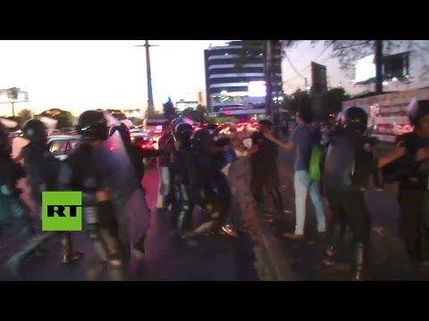 Nicaragua: Violentos enfrentamientos en protesta por cambios de seguridad social en Managua